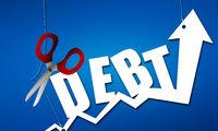 Use scissors to cut away debt