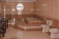 Beautiful bathroom with whirlpoo