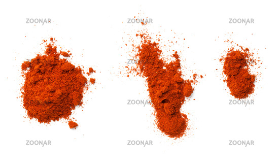 Cayenne Pepper Powder Isolated On White Background