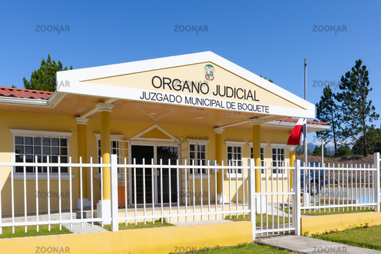 Panama Boquete entrance of the local court of justice
