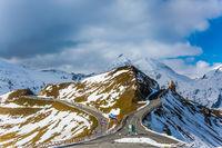Alpine panoramic mountain road