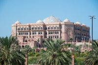 The Emirates Palace in Abu Dhabi, United Arab Emirates
