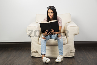 Concentrating on a book