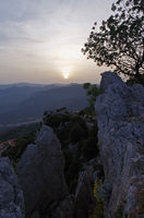 Sunset over the mountains of Sardinia