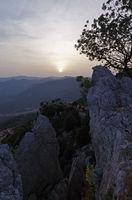 Sunset over the mountains of Sardinia