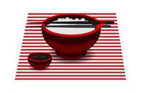 Japanese food rice bowl chopsticks
