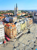 Croatian Zagreb aerial view