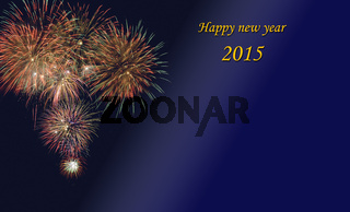 happy new year 2015 with firework