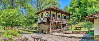 Old traditional houseof the Etar village in Bulgaria