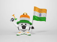Soccer character fan supporting India
