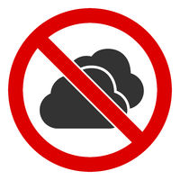 Flat Raster No Clouds Icon