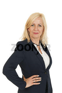 blonde woman hand on the hip
