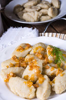 Szare kluski, Polish dumplings with sauerkraut