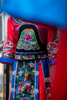 Colorful details of ethnic minorities costume