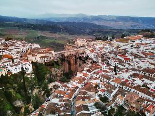 Aerial photo Ronda cityscape, Malaga, Costa del Sol, Spain