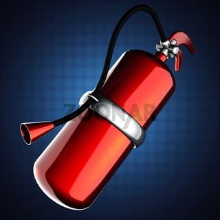 metallic fire extinguisher