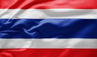 Waving national flag of Thailand