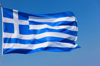 Flag of Greece - Close-up of waving greek flag