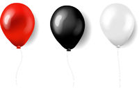 Three Balloons Red White And Black