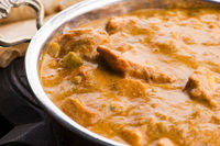 A delicious bowl of creamy chicken tikka masala