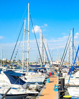 Yachts, motorboats, marina, pier, Cyprus