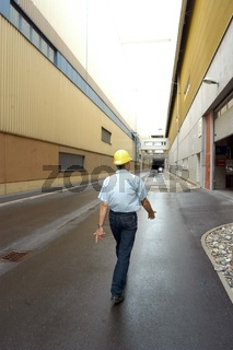 industrial worker at his work place