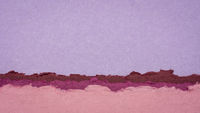 abstract paper landscape in pink and purple pastel tones