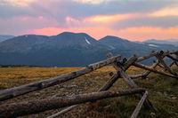 Sunset in Rocky Mountain National Park, Colorado, USA