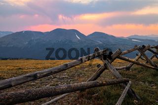 Sunset in Rocky Mountain National Park, Colorado, USA