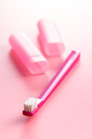 New pink toothbrush.