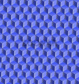 3d cubes mosaic