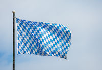 Bavarian flag and blue sky