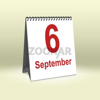 September 6th   6.September
