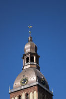 Evangelical Lutheran Riga Dome Cathedral with weather vane