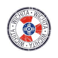 City of Wichita, Kansas vector stamp