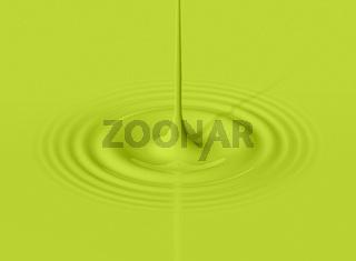Green drop of avocado milk and ripple