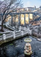 Kamianets-Podilskyi city park, Ukraine