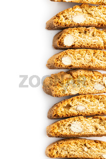 Sweet italian cantuccini cookies. Almonds biscuits.