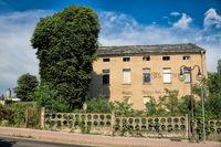 Schkeuditz, Germany - June 19, 2019 - old derelict house