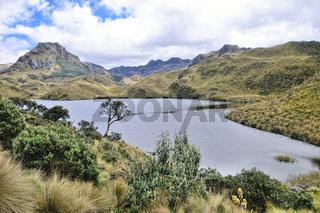 Wandern auf dem alten Weg von García Moreno im Nationalpark Cajas Ecuador