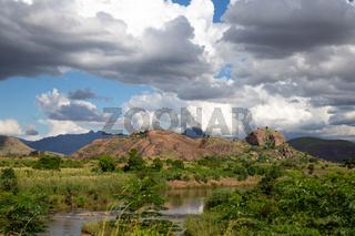 Landscape shot of the island of Madagascar