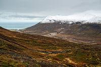 Mountains and view in Borgarfjordur Eystri, Iceland