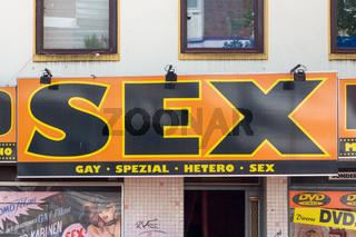 Sex Shop Sign Hamburg