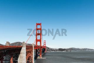 San Francisco Golden Gate Bridge red Pillar