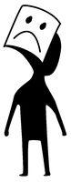 Unhappy Figure Symbol