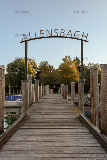 Jetty in Allensbach on Lake Constance, Baden-Wuerttemberg, Germany