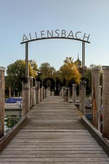 Anlegestelle in Allensbach am Bodensee, Baden-Württemberg, Deutschland