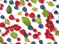Various fresh summer berries pattern