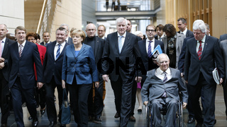 CSU / CDU and SPD - Secound Roundof Interior, Transport Minister Peter Ramsauer,