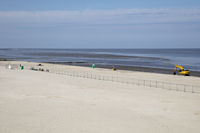 Construction work at the beach of Norddeich